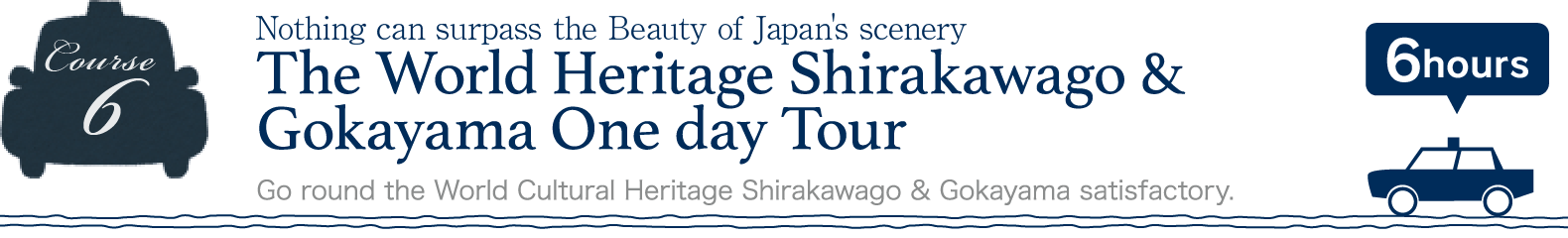 The World Heritage Shirakawago & Gokayama One day Tour